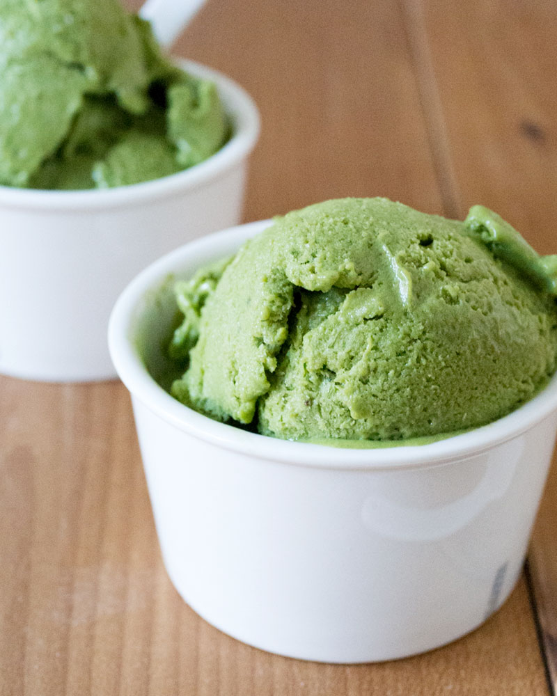 banana matcha icecream
