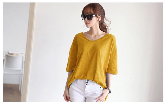 Fashion24Hours - A must have mustard casual top.