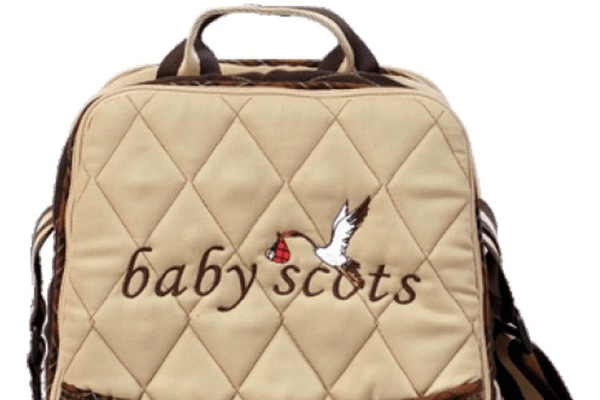 Baby Scots Keep Warm Embroidery Bag