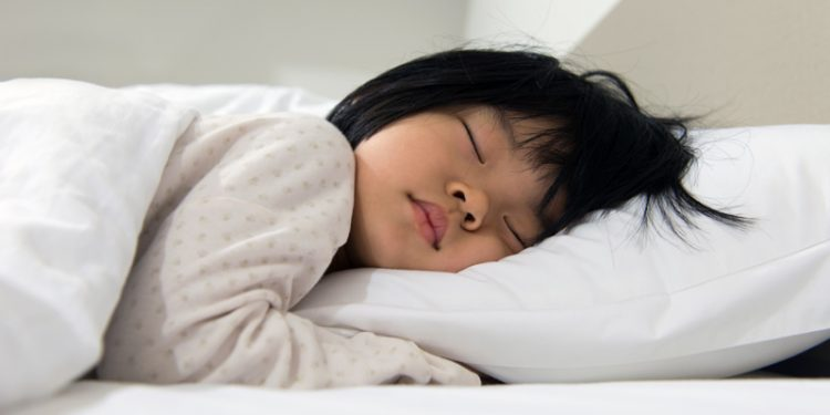 21089823 Portrait Of Asian Child Sleeping On The Bed
