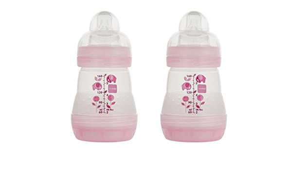 MAM Anti-colic Bottle, 5 Oz, 2-pk, New, 3 Colors Available Pink : Baby -  Amazon.com