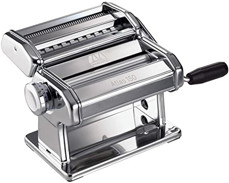 Amazon.com: Marcato Atlas 150 Pasta Machine, Made in Italy, Includes Cutter, Hand Crank, and Instructions, 150 mm, Stainless Steel: Kitchen & Dining