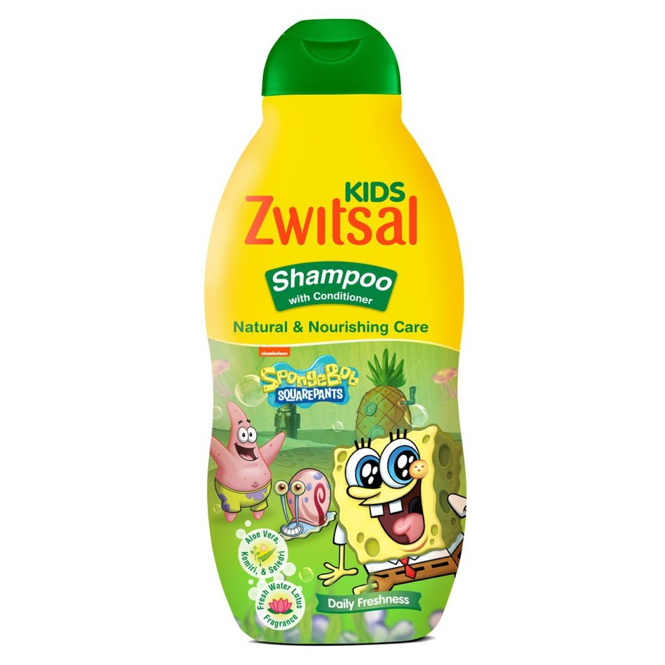 Zwitsal Kids Shampoo Natural & Nourishing Care Green 180ml | Shopee Indonesia