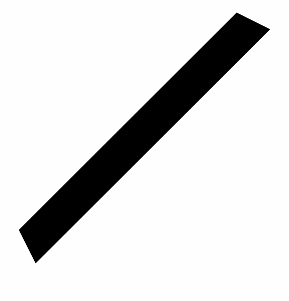 Diagonal Png - Black And White Crayon Png | Transparent PNG Download #1254237 - Vippng