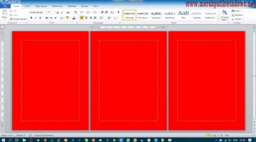Cara Mudah Print Background/Latar Warna Di Microsoft Word (Page Color) LesNoles